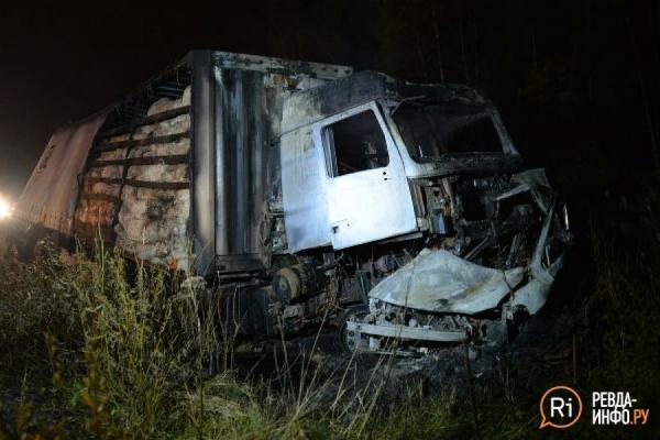 На Московском тракте два человека сгорели в легковушке, выскочившей в лоб МАЗу. ФОТО, ВИДЕО
