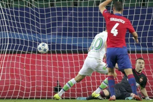 ЦСКА уступил «Вольфсбургу» в стартовом матче группового турнира Лиги чемпионов