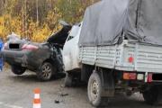 Страшная авария на свердловской трассе! В столкновении УАЗа и Toyota Camry погибли водитель и пассажир иномарки