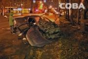 В Екатеринбурге пьяный водитель иномарки, гнавший на красный, влетел в такси с пассажирами