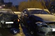 На улице Щербакова столкнулись четыре автомобиля, троллейбус и автобус. Пострадали два человека