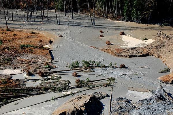 Оползень в Китае могло вызвать скопление грязи на незаконной свалке