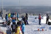 В «Солнечной долине» любители-экстремалы освоили трассу Кубка мира по сноуборду