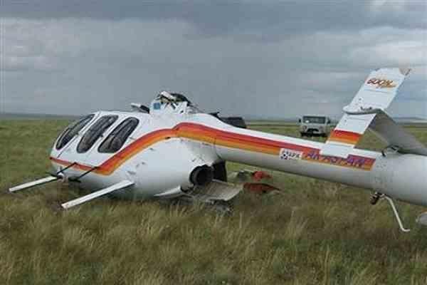 В Казахстане вчера упал вертолет