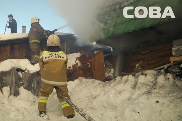 На улице Лялинской сгорела частная баня