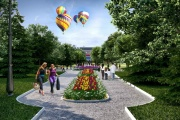 Гипермаркет «Окей», памятник Чкалову и «Могилевский дворик». В Екатеринбурге благоустроят парк на Фучика. ПРОЕКТ