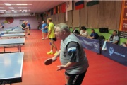 Профсоюзные активисты сразились в настольный теннис