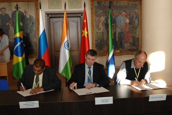 Ведущие университеты Бразилии, России, Индии, Китая и Южной Африки официально вошли в состав Сетевого университета БРИКС