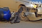 В ДТП возле «Радуга-Парка» серьезные травмы получил мотоциклист