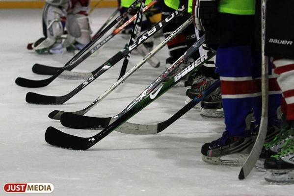 Звезды спорта и чиновники устроили хоккейную «зарубу», а в перерыве зрителей развлекали Шахрин и «пельмени»