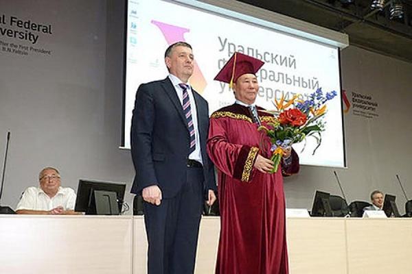 Известный выпускник УрФУ из Монголии стал почетным доктором университета