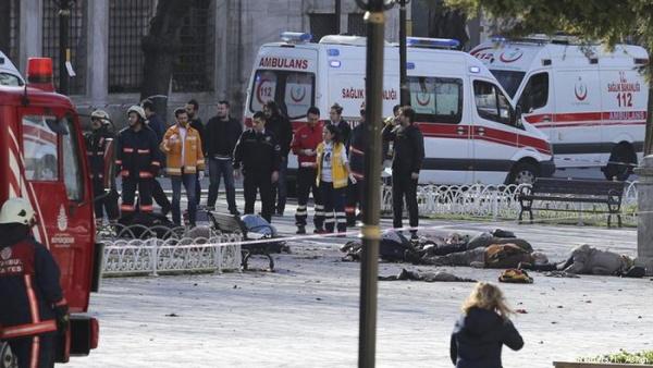 В Стамбуле произошел взрыв