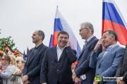 Куйвашев и Якоб встретили День России на Плотинке вместе с тысячами екатеринбуржцев