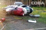 В Екатеринбурге на территории больницы рухнул вертолет. ФОТО и ВИДЕО с места ЧП