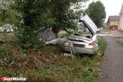 В Сысерти Nissan намотался на столб. Один человек погиб, двое в больнице. ФОТО