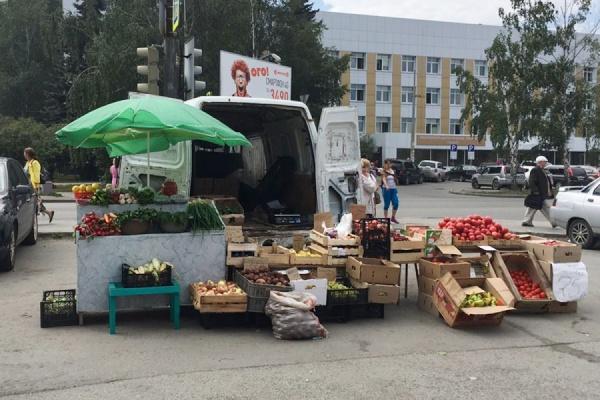 Полицейские устроили внезапную проверку на стихийном мини-рынке возле областной больницы