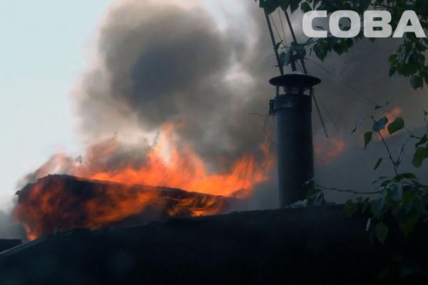 При тушении пожара в Екатеринбурге найдено тело убитого мужчины