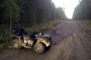 На ночной дороге опрокинулся и погиб квадроциклист
