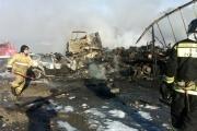 На Тюменском тракте в горящей легковушке погибли двое взрослых и ребенок