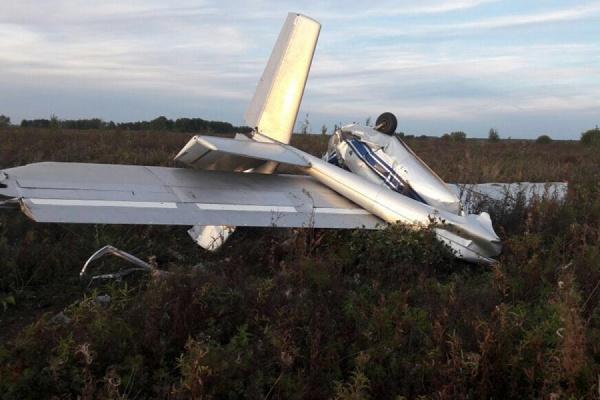 В Туринской Слободе разбился мотопланер. Пилот погиб