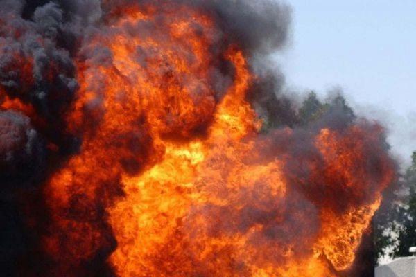 В Омске произошел пожар на нефтезаводе