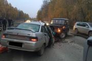 В столкновении двух автомобилей на Полевском тракте пострадал ребенок-пассажир