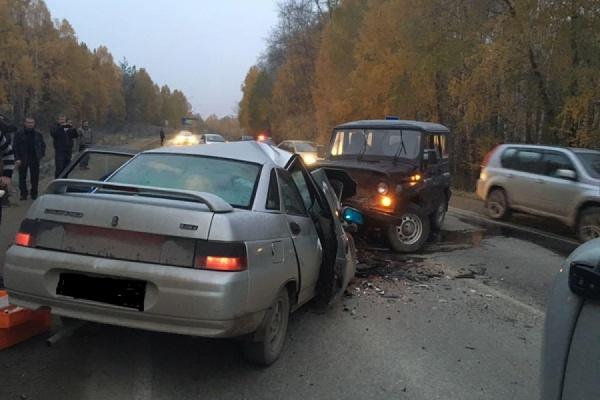 В трагедии на автотрассе Екатеринбург— Полевской пострадал ребенок ивзрослый