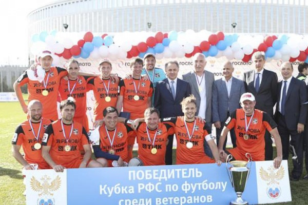 Ветераны изЕкатеринбурга стали победителями Кубка РФС пофутболу