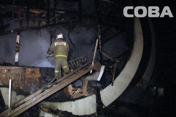 Уникальный дом в виде золотых колец сгорел в Березовском