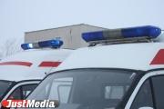 В Березовском иномарка вылетела на остановку, где сбила двух пешеходов