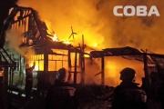 В коллективном саду «Хрустальном» сгорели сразу два дома