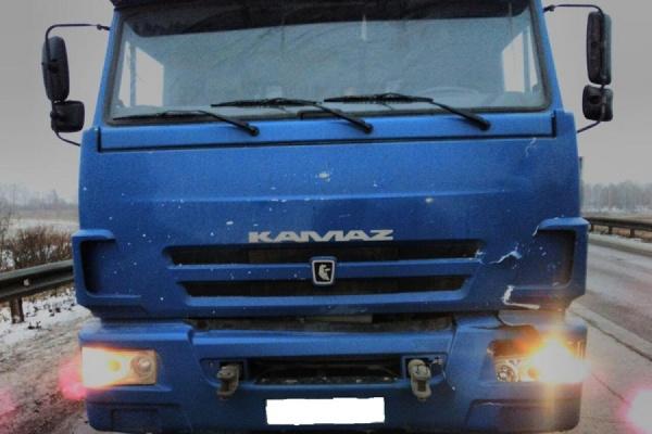 Увидел только темный силуэт… Под Нижними Сергами КАМАЗ сбил пешехода на автотрассе