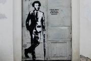 По центру Екатеринбурга прогуливается рисованный Пушкин