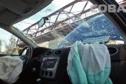Открытый канализационный люк разбил легковушку на Сортировке. ФОТО