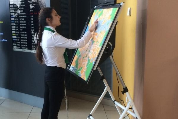 К ЧМ-2018 в Кольцово установили интерактивную звуковую карту для слепых туристов