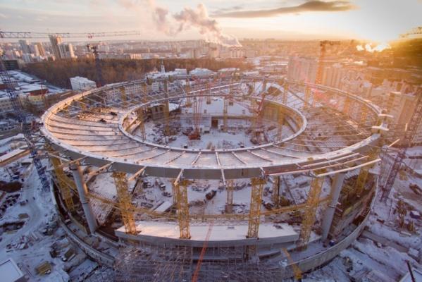 На «Екатеринбург-Арене» закончен монтаж основных конструкций навеса