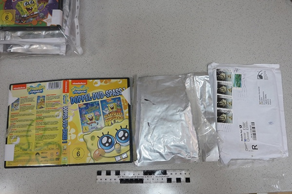ВЕкатеринбург пытались переслать наркотики вкоробках из-под «Губки Боба»