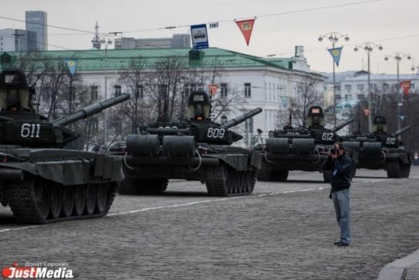 В среду в Екатеринбурге пройдет первая репетиция Парада Победы. ГРАФИКИ ПЕРЕКРЫТИЙ