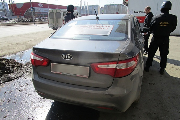 Ужителя Екатеринбурга задолги покредиту арестовали Киа Rio