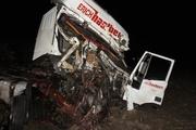 На Серовском тракте уснувший дальнобойщик устроил ДТП из трех фур. ФОТО