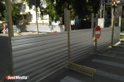 В Екатеринбурге закрыли на ремонт улицу Мамина-Сибиряка. ФОТО