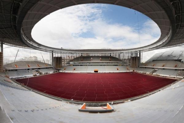 Первый официальный матч на обновленном Центральном стадионе пройдет в апреле 2018 года