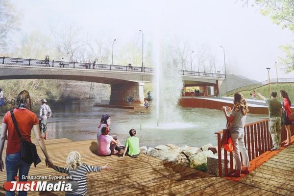 КБ «Стрелка» предлагает сделать вместо храма-на-воде городской пляж и пороги для каяков. ФОТО