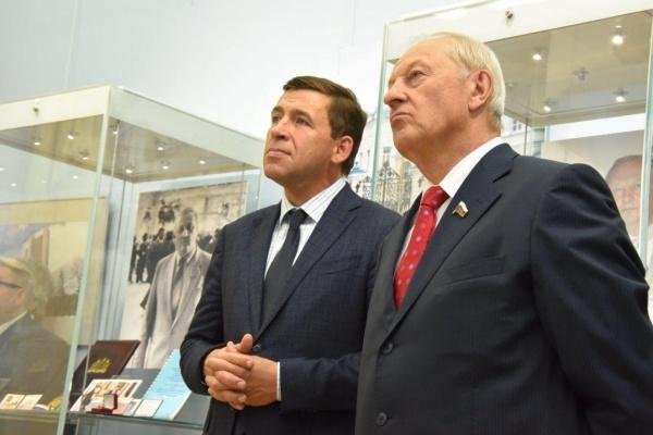 Куйвашев на открытии выставки о Росселе: «Это было непростое, насыщенное событиями время»