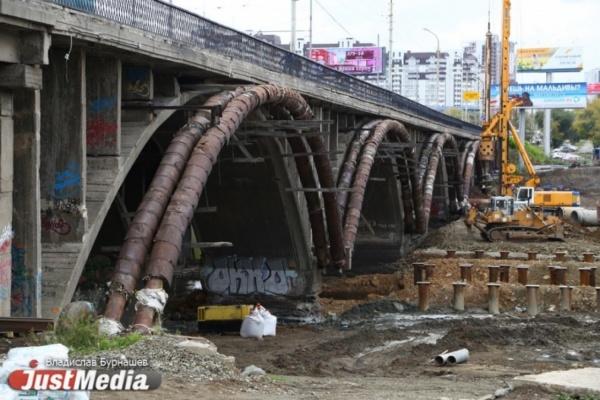 Строители перекроют движение поМакаровскому мосту вЕкатеринбурге навыходные