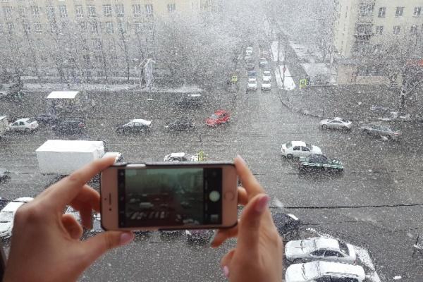 Фотографии апрельского снегопада в Екатеринбурге в полтора раза увеличили мобильный трафик «МегаФона»