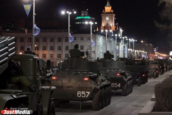 Вечером из-за генеральной репетиции парада Победы вновь перекроют центр Екатеринбурга