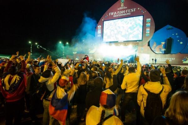 На матче Россия – Египет в фан-зоне в ЦПКиО болельщикам не хватило место
