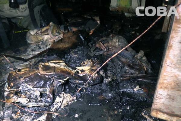 В Екатеринбурге при пожаре в квартире на Луначарского погибли пенсионеры. Госпитализирован ребенок. ФОТО