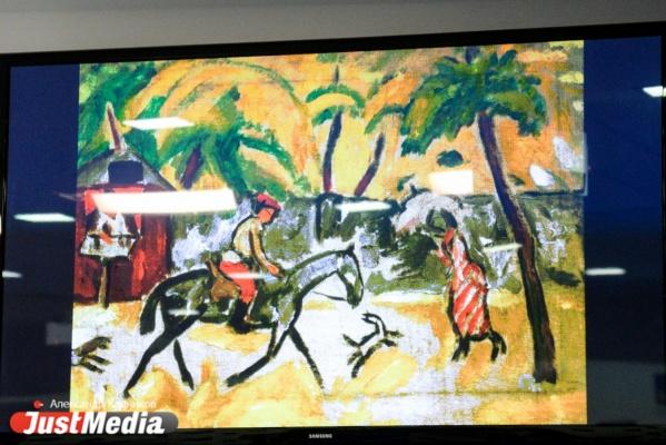 В театре Урал Опера Балет занавес стоимостью 5 млн рублей украсит картина Ларионова «Улица в провинции»